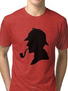 Sherlock Holmes Silhouette Tri-blend T-Shirt