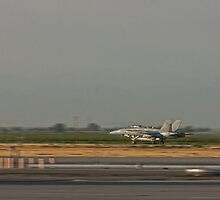 F/A 18 Taking Off with After Burners by Buckwhite