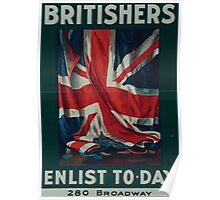 Britishers enlist to day 280 Broadway 002 Poster