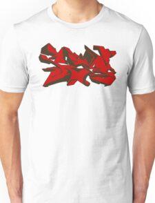 Style graffiti Red Unisex T-Shirt