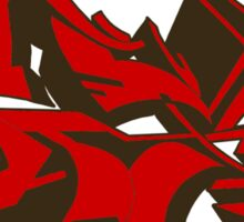 Style graffiti Red Sticker