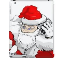 DJ Santa Claus Mixing The Christmas Party Track iPad Case/Skin