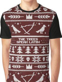 The (Holiday) Trees Speak Latin Graphic T-Shirt