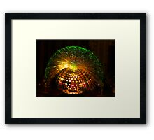 Green Fibre Optic Lamp Framed Print