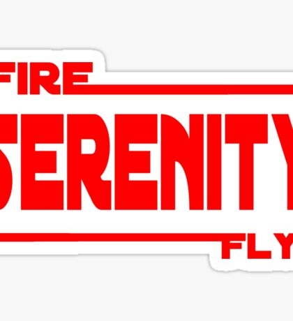 Firefly wars Sticker