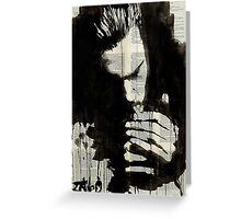 study for man smoking Greeting Card
