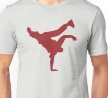 BBOY pose red Unisex T-Shirt