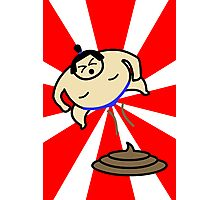 Flying Fart Sumo Photographic Print