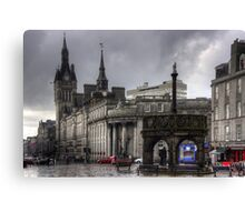 The Castlegate in the driving rain Canvas Print