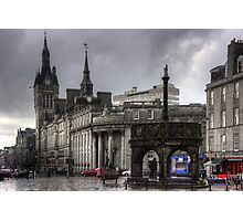 The Castlegate in the driving rain Photographic Print