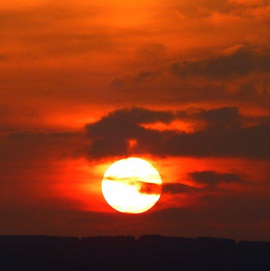 Sunset Over Belfast Lough by Fara