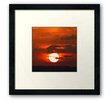 Sunset Over Belfast Lough Framed Print
