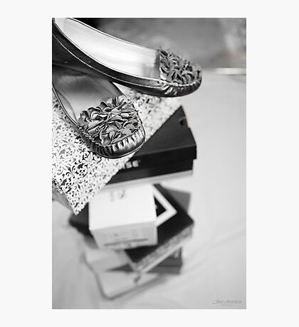 ...tower of shoes........! Photographic Print