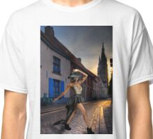 Fashionista Crossing The Street Classic T-Shirt