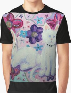 Bunny and Cat Graphic T-Shirt