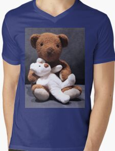 Teddy bear card/gifts/t-shirt-Psalm 145:17 Mens V-Neck T-Shirt