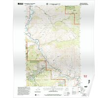 USGS Topo Map Washington State WA Methow 242326 2001 24000 Poster