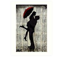 love & rain Art Print