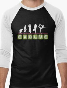 Evolve Yoga T-Shirt Men's Baseball ¾ T-Shirt