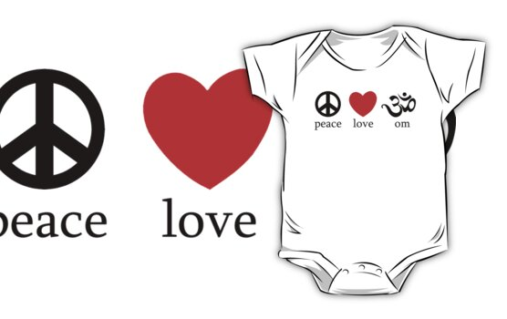 Peace Love Om Yoga T-Shirt by T-ShirtsGifts