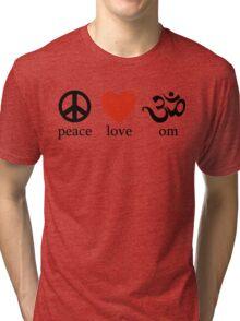 Peace Love Om Yoga T-Shirt Tri-blend T-Shirt
