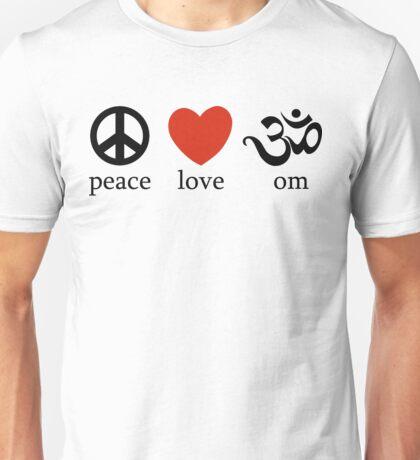 Peace Love Om Yoga T-Shirt Unisex T-Shirt
