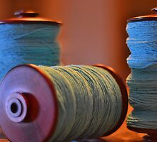 Bobbins of Yarn Blue by Carlo Marandola