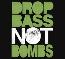 Drop Bass Not Bombs (Pt. II) [neon green] Kids Clothes