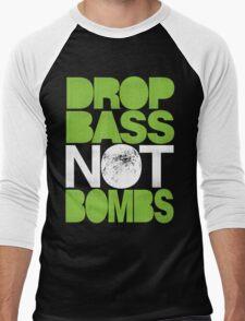 Drop Bass Not Bombs (Pt. II) [neon green] Men's Baseball ¾ T-Shirt
