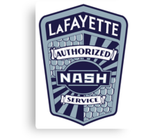 Vintage Nash LaFayette Service Sign Reproduction Canvas Print