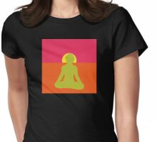 Abstract Yoga T-Shirt Womens Fitted T-Shirt