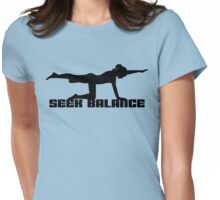 Seek Balance Yoga T-Shirt Womens Fitted T-Shirt