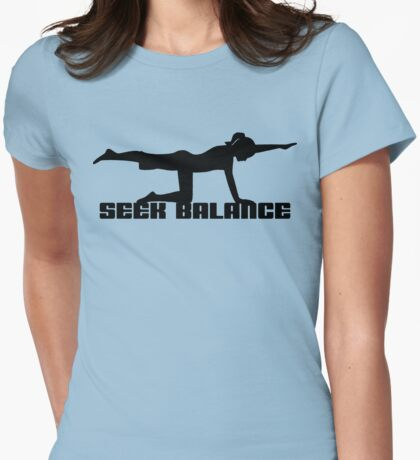 Seek Balance Yoga T-Shirt Womens Fitted T-Shirt