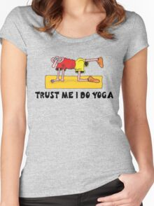 Funny Men's Yoga T-Shirt Women's Fitted Scoop T-Shirt