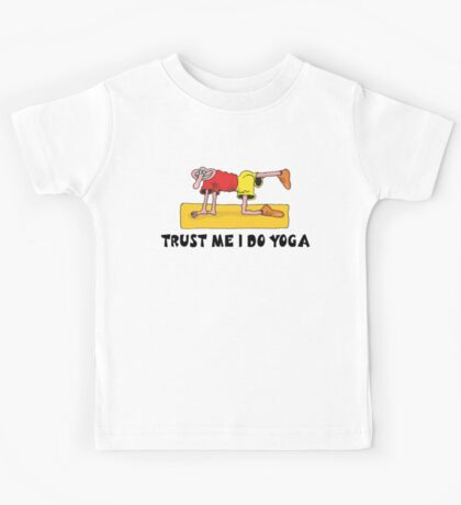 Funny Men's Yoga T-Shirt Kids Tee