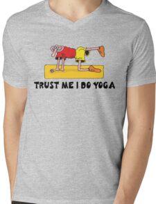 Funny Men's Yoga T-Shirt Mens V-Neck T-Shirt