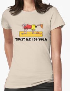 Funny Men's Yoga T-Shirt Womens Fitted T-Shirt