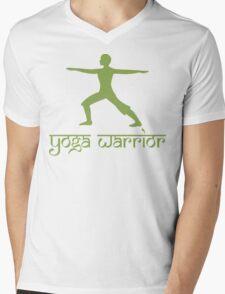 Warrior Pose Yoga T-Shirt Mens V-Neck T-Shirt