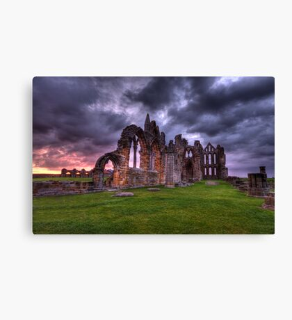 sunrise whitby abbey  Canvas Print