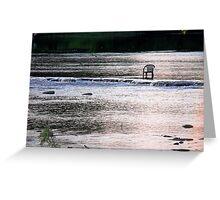 dawn on the rideau Greeting Card