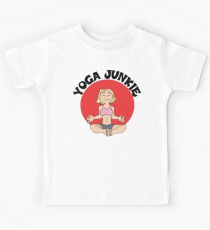 Funny Women's Yoga T-Shirt Kids Tee