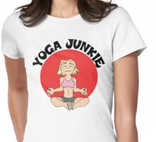Funny Women's Yoga T-Shirt Womens Fitted T-Shirt