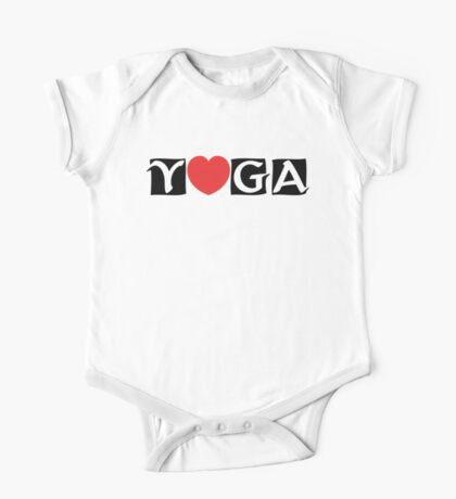 Love Yoga T-Shirt One Piece - Short Sleeve