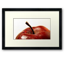 drop on an apple Framed Print