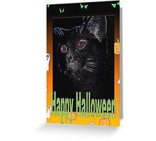 Black cat Halloween card Greeting Card