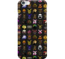 Multiple characters (New set) - Five Nights at Freddy's - Pixel art  iPhone Case/Skin