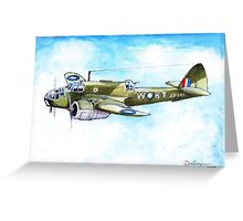 Beaufort Bomber Greeting Card