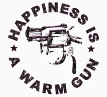 Happiness Is A Warm Gun (Inspired By John Lennon / Andy Warhol)  by LamericaTees