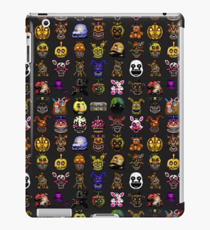 Multiple characters (New set) - Five Nights at Freddy's - Pixel art  iPad Case/Skin