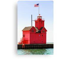 Holland, Michigan Big Red Lighthouse Canvas Print